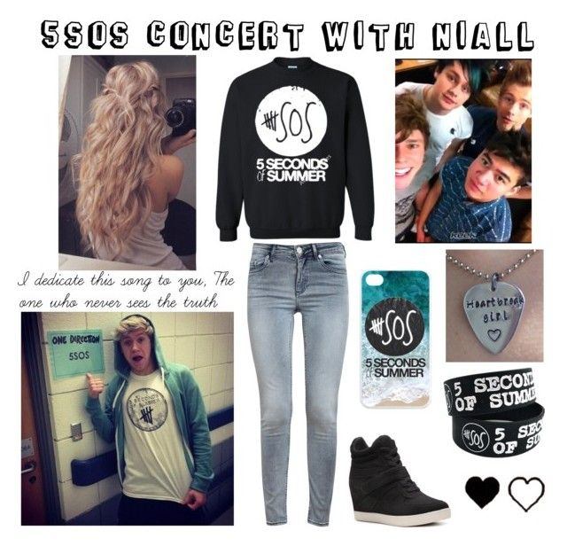 """""""#301: 5sos Concert with Niall"""" by kristina-payne ❤ liked on Polyvore featuring art"""