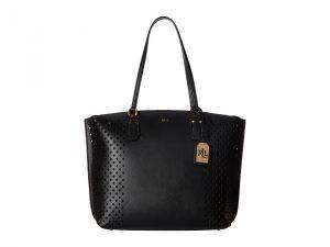 LAUREN Ralph Lauren Lauderdale Tanner Tote (Black) Tote Handbags