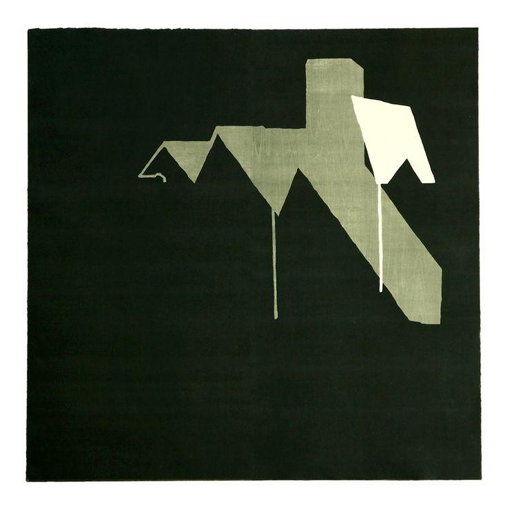 """arR"" Woodblock printing, oil based ink printed on paper, 2005, 100x100cm, by Yasuyoshi Tokida, 常田泰由 http://yasuyoshitokida.web.fc2.com/"