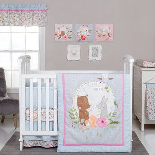 Usher your little one into dreamland with this Sweet Jojo Skylar Collection nine-piece crib bedding set. Best suited for baby girls, this machine-washable baby set is made from 100-percent cotton for