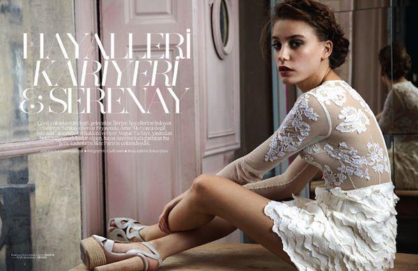 Serenay Sarikaya for Vogue Turkey January 2011 - Bloginity.com