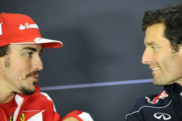 Fernando Alonso and Mark Webber at Silverstone GP 2013