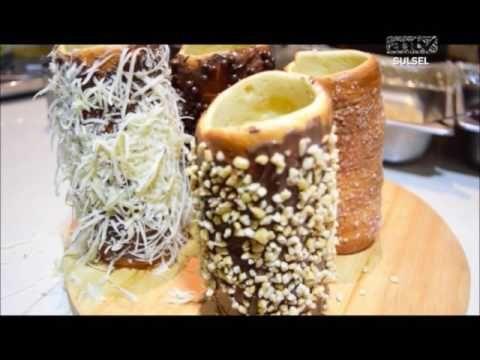 Roti Cerobong Makassar Bentuk dan Rasanya Sangat Unik  - Kuliner Makassar