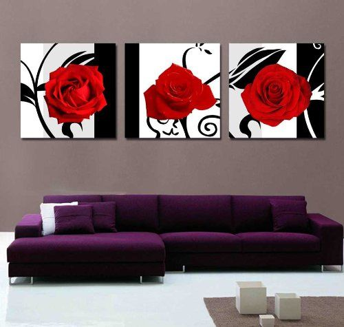 Black And Red Wall Art 13 best black & white wall art images on pinterest | abstract