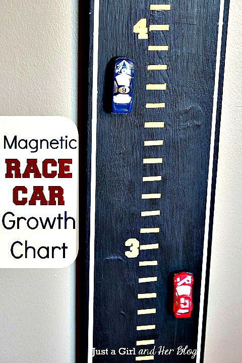 How to Make a Magnetic Race Car Growth Chart (Great for kids)