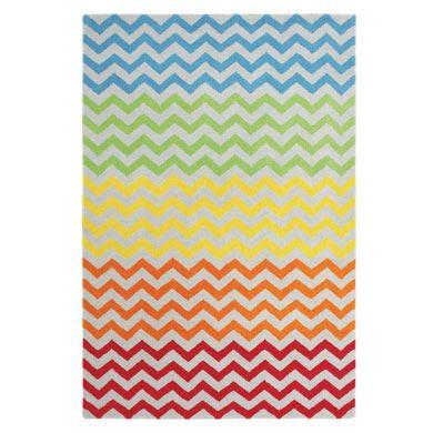 Rainbow Chevron Rug - Rugs - Bedding & Room Accessories - gltc.co.uk