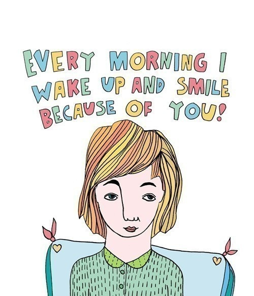 Greeting Card  Every morning I wake up and smile by ableandgame, $5.45