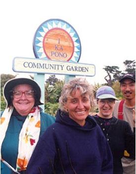 Volunteers and staff of I Ka Pono Community Garden, a project of the Zen Center of Hawaii, in Kamuela, Hawaii.