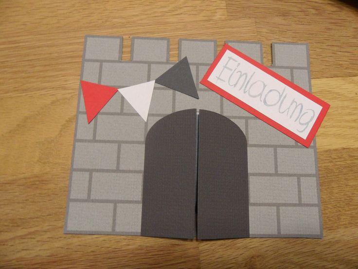 die besten 25+ einladungskarten kindergeburtstag basteln ritter, Einladungsentwurf