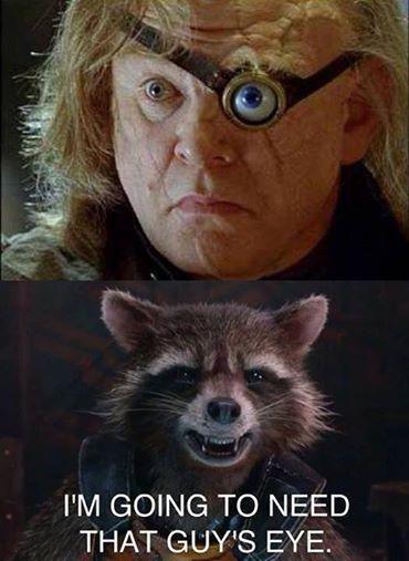 Guardians of the Galaxy Rocket Raccoon and Mad Eye Moody ...