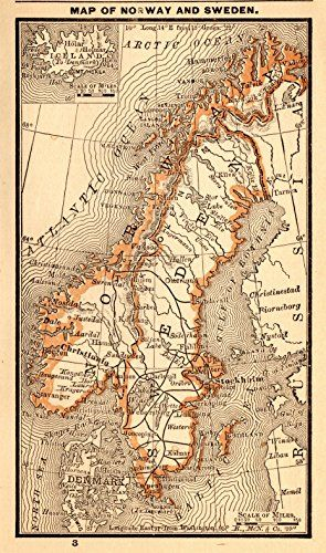 Best Maps Of The World Images On Pinterest Gallery Wall - Norway map amazon