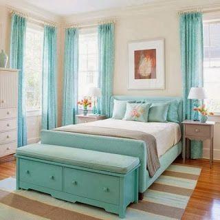 Dormitorios para adolescentes color turquesa