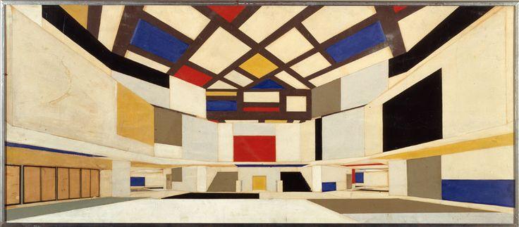 Theo van Doesburg and Cornelis van Eesteren. University Hall Amsterdam, 1923. NAi Collection, EEST 3-168