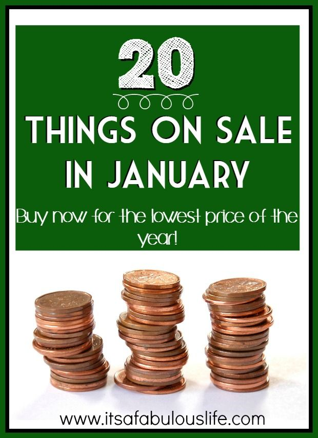 20 things on sale in January...Find out what you should be stocking up on now!