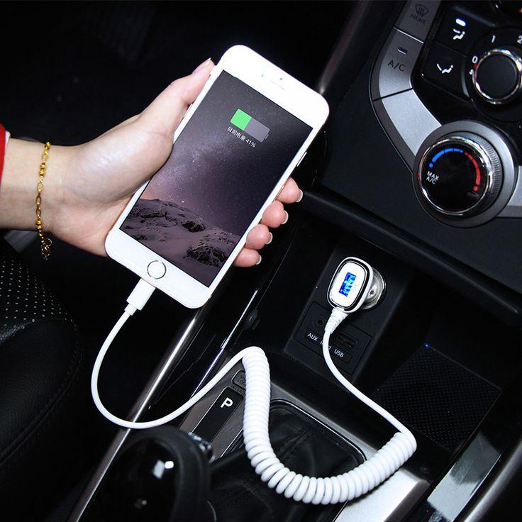 2.4A Cargador Rápido de Coche 12 V/24 V Puerto USB Cargador de Coche + $ number pies cable cargador de coche para apple iphone y android iphone etc meidi6007
