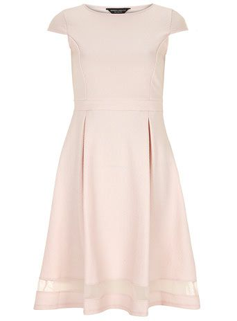 Pink sheer insert midi dress