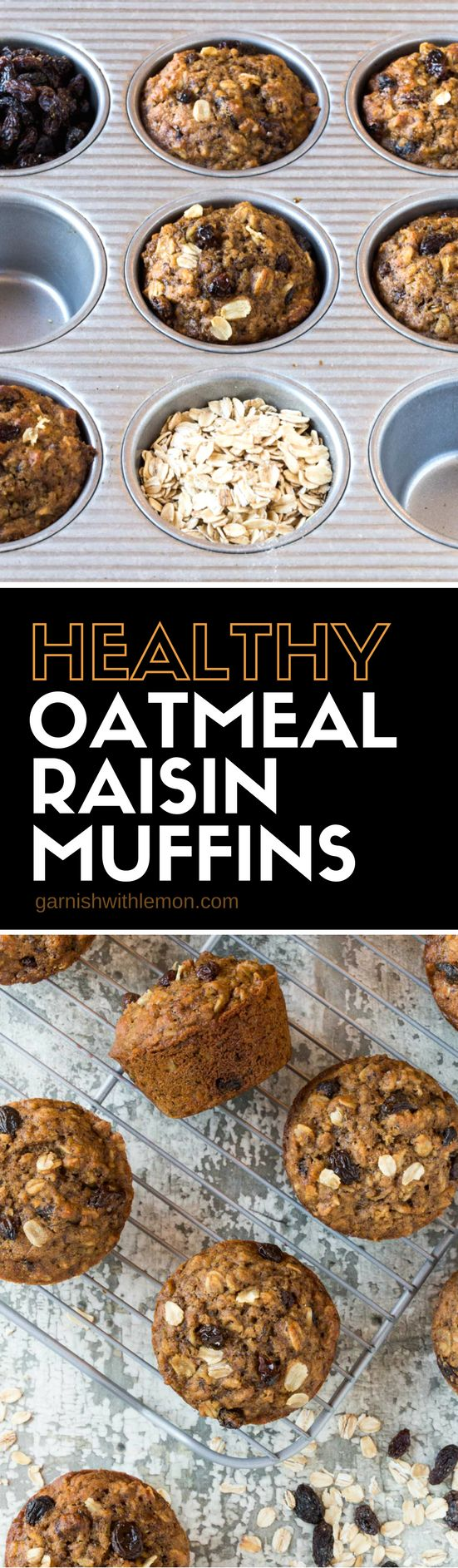 Make these Healthy Oatmeal Raisin Muffins ahead of time and pop them in the freezer. Simply pull one (or the whole batch) out whenever you need them. A great breakfast option for overnight guests!