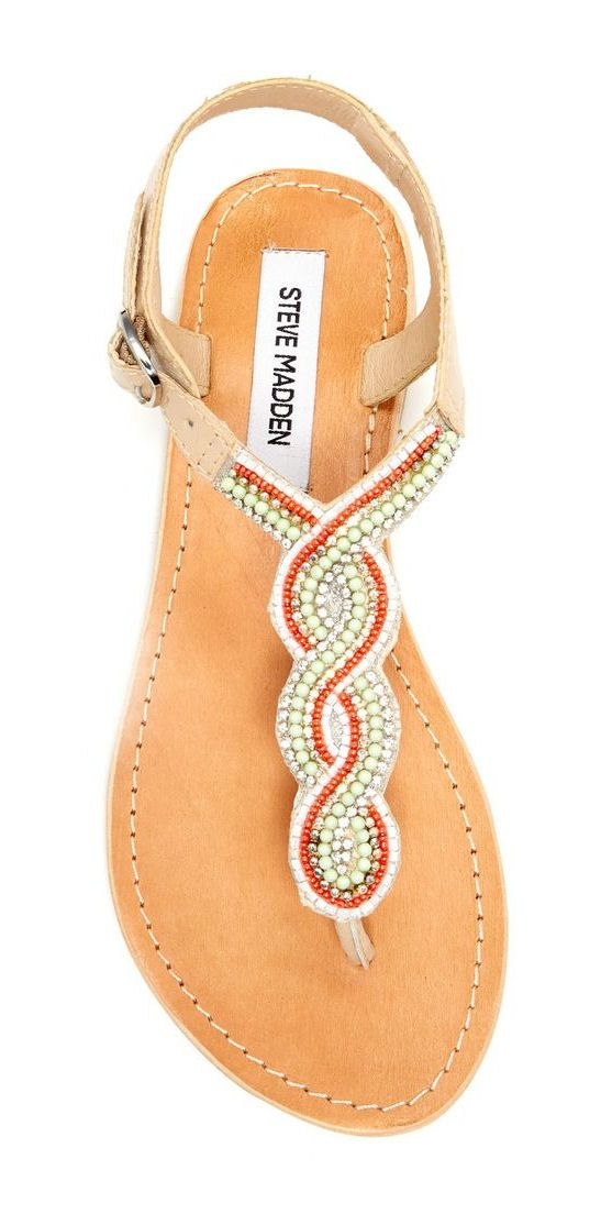 Coral & Mint Beaded Sandals  ♥