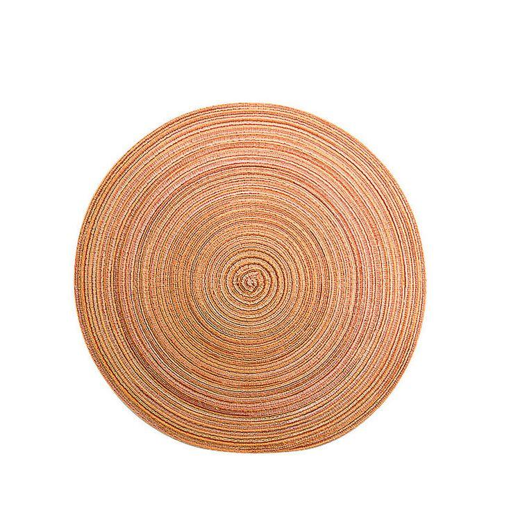 Platzset rund meliert orange D:38 cm