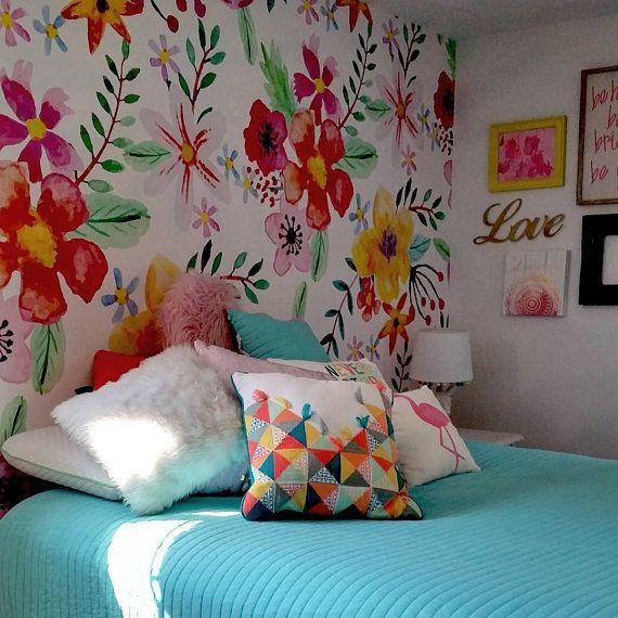 Florist S Dream Wallpaper Magic Garden Wall Mural Vibrant Floral Removable Wallpaper Self Ahdesive Renters Decor Flowers 67 Cheap Wall Decor Floral Wallpaper Kids Wall Murals