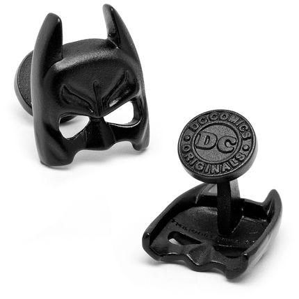 Satin Black Classic Batman Mask Cufflinks  by Cufflinksman.com