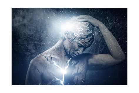 Man with Conceptual Spiritual Body ArtBy NejroN Photo