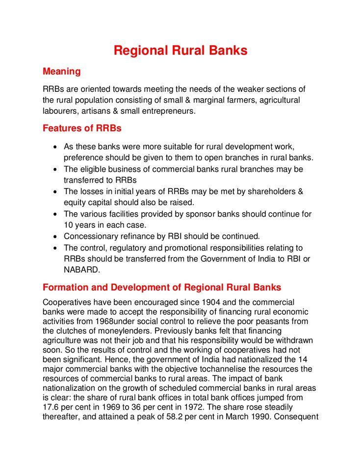 Regional rural banks by Palak Sodhi via slideshare