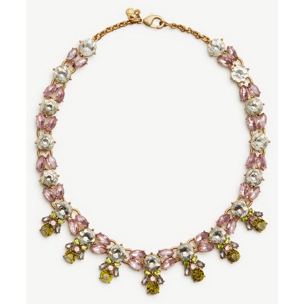 Ann Taylor Crystal Burst Statement Necklace (150 TND) ❤ liked on Polyvore featuring jewelry, necklaces, prairie green, crystal stone jewelry, crystal jewelry, statement necklaces, bib statement necklace and crystal bib statement necklace