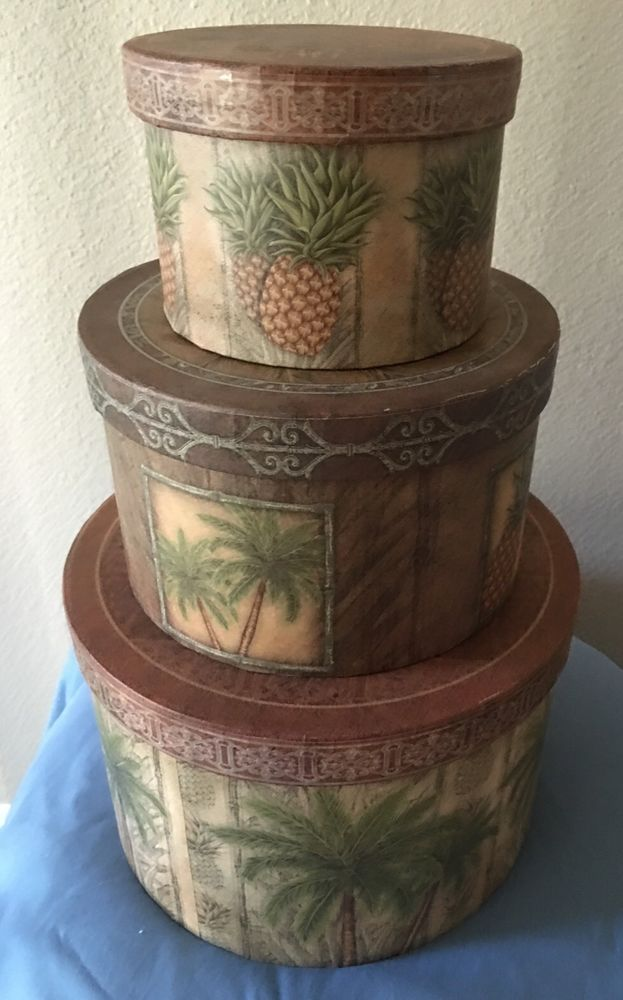 3  Tropical Decorative Stackable Storage Boxes #Everyday