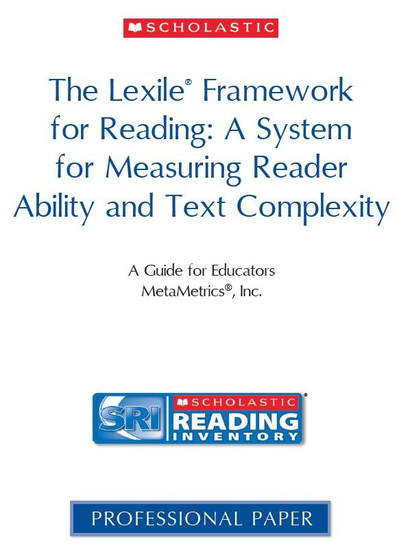 PDF on the Scholastic Reading Inventory for figuring out Lexiles