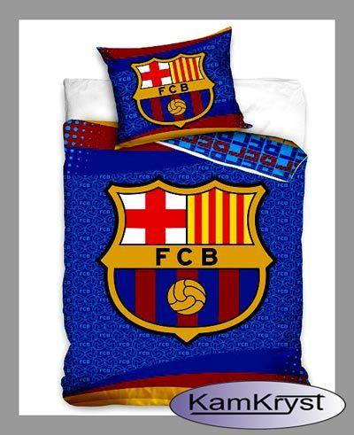 Nowy wzór pościeli FC Barcelony Herb 160x200 pościel kibica w sklepie KamKryst #fc_barcelona  #barcelona_bedding