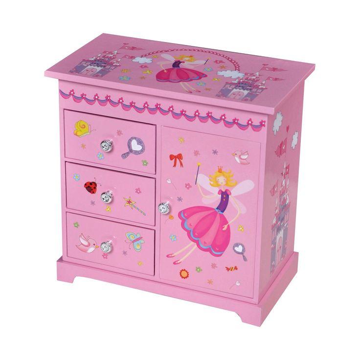 Mele & Co. Krista Girls' Musical Ballerina Jewelry Box-Pink, Pink