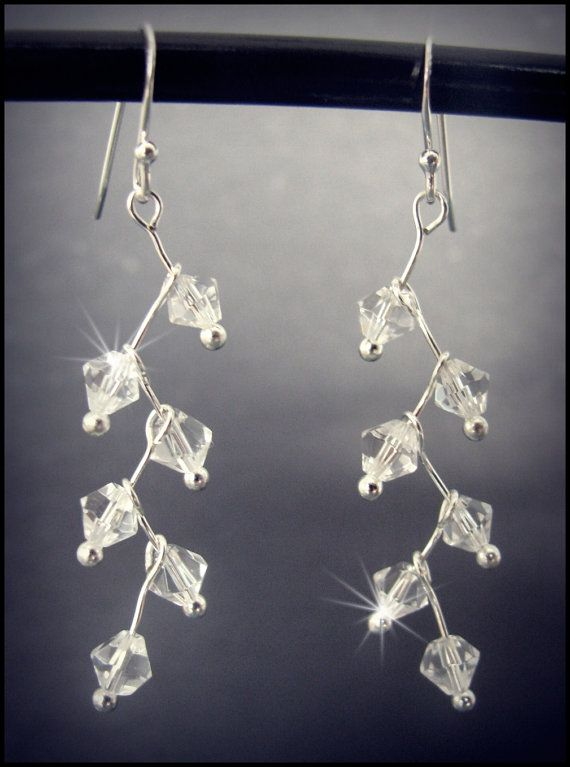 Stunning Sparkling Crystal Drop Earrings- what to do with all my earring headpins