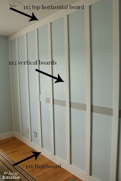 Floor to Ceiling Board and Batten tutorial at The Happy Housie panel dimensions