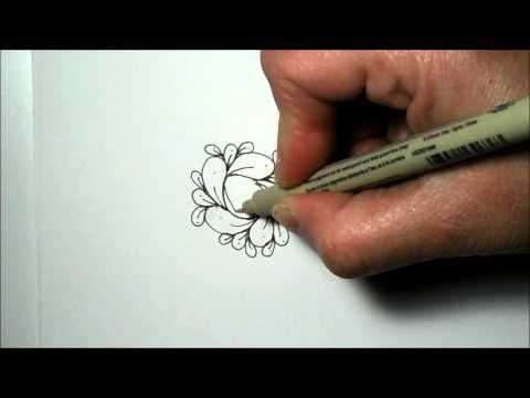 How To Draw Cirque Tangle/Doodle Pattern - YouTube