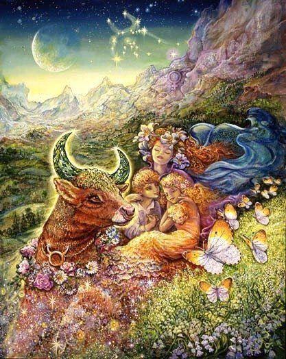 Taurus artwork by Josephine Wall. <3