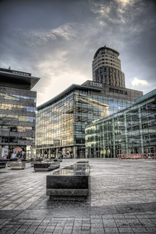 BBC headquarters at MediaCityUK in Salford, Manchester. Right across the water from the Imperial War Museum and the Lowry!