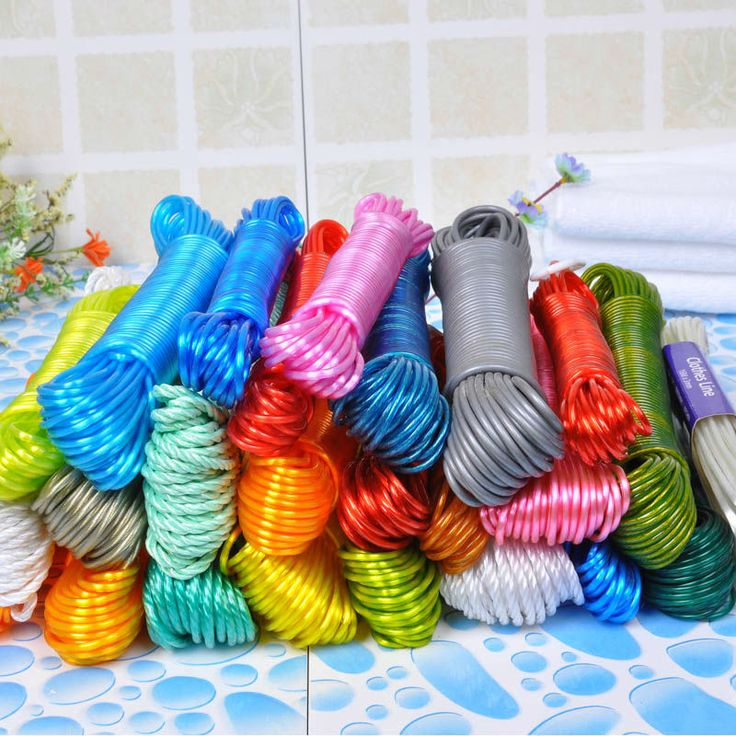 outdoor clothes line colorful washing cloth line