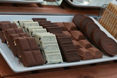 Smores Bar...Love the idea of different kinds of bars at parties (hot cocoa bar, grilled cheese bar, etc.)