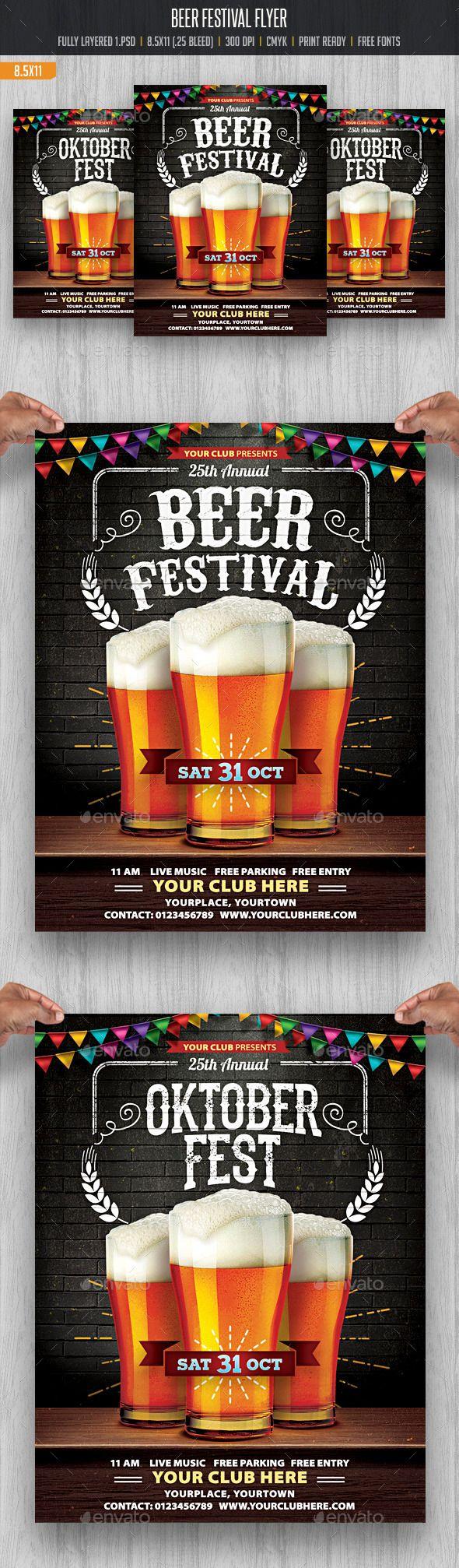 Beer Festival Flyer Template #design Download: http://graphicriver.net/item/beer-festival/12683108?ref=ksioks