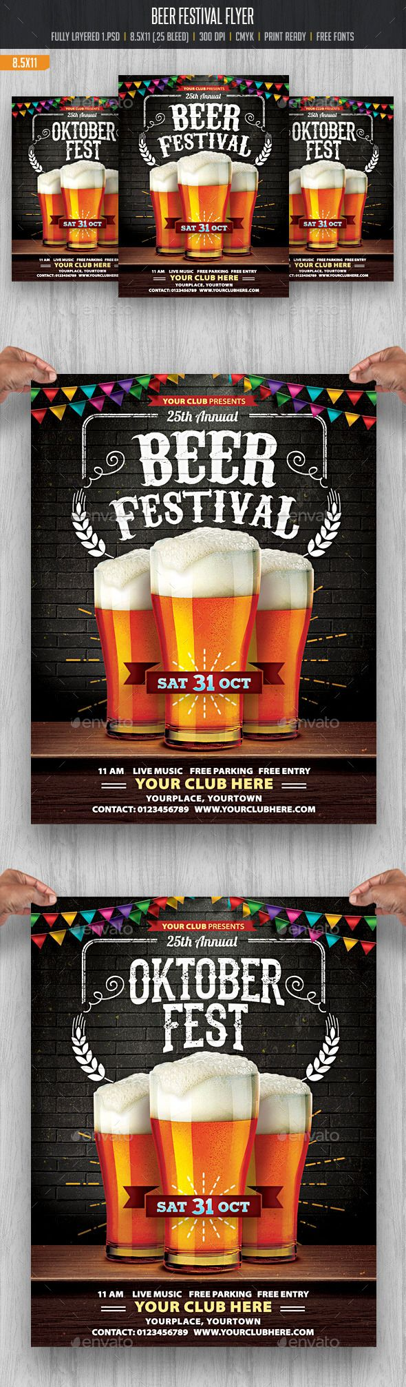 Beer Festival Flyer Template #design Download: http://graphicriver.net/item/beer-festival/12683108?ref=ksioks