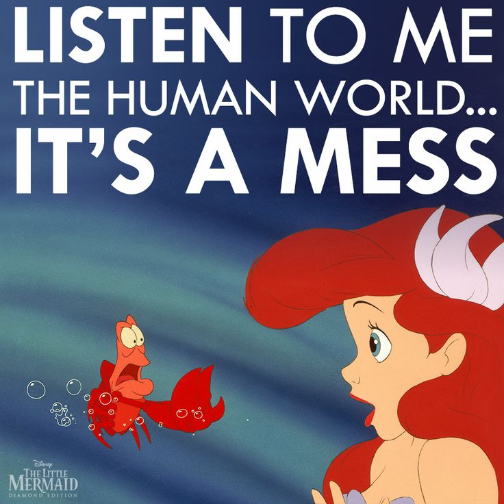 Yes. Yes it is. Life under the sea is better than anything we've got up here... Someday I'll be a merman.