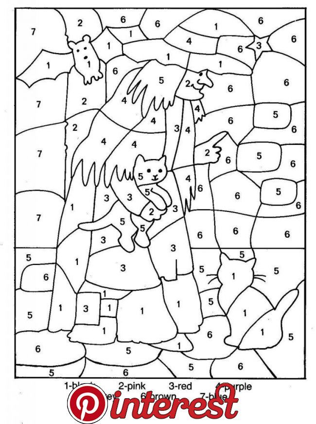 Free Printable Color By Number Coloring Pages Best Coloring Pages For Kids Halloween Color Halloween Coloring Pages Halloween Coloring Halloween Worksheets