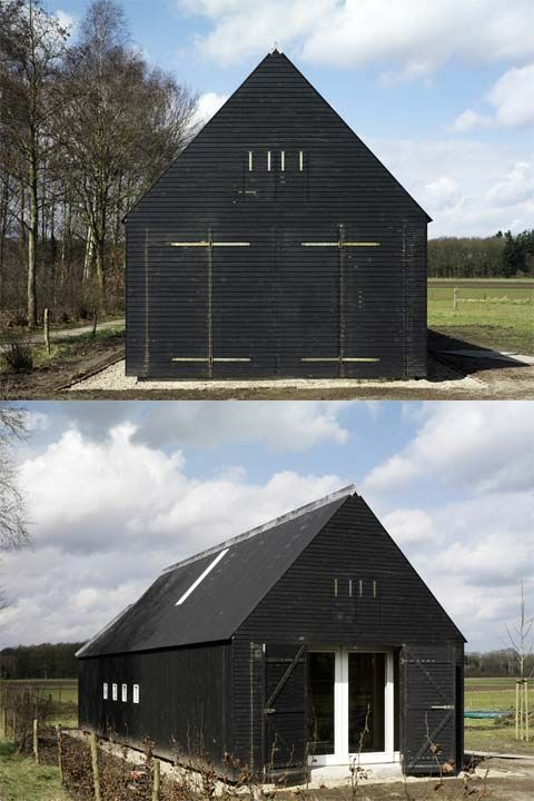 modern-rural-house-oeken Clad in reclaimed ND siding from deteriorated buildings, this would be fabulous!