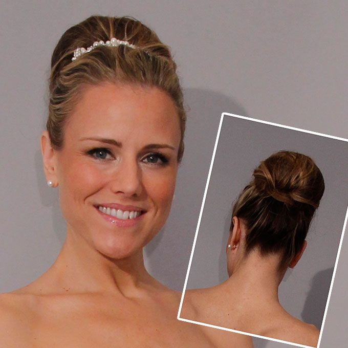 Classic updo for a formal wedding