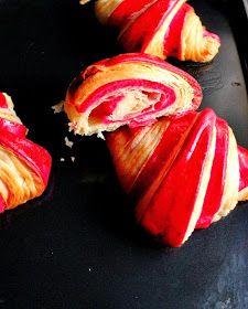 Croissants bicolores à la framboise