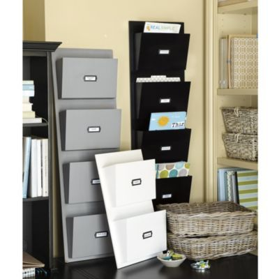 Wood Wall Pocket  2 or 4 piece in gray, black or white. I like the gray 4 piece, or 2 gray 2 pieces.