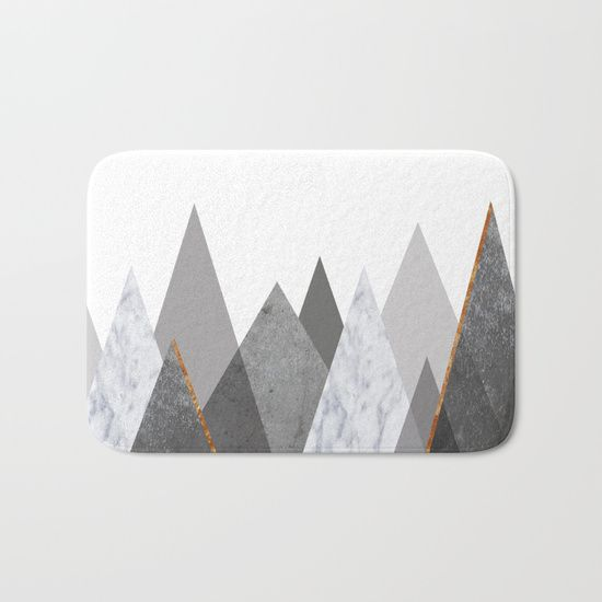 The perfect bath mats: fuzzy, foamy and finely enhanced with brilliant art. With a soft, quick-dry microfiber surface, memory foam cushion and skid-proof backing, our shower mats are a cut above your typical rug. Keep them clean with a gentle machine wash (no bleach!) and make sure to hang dry. copper, black, gold, chevron, pattern, geometry, concrete, geometric, minimalist, seamless, stripes, scandinavian, nordic, mid century, wall art, home decor, scandi design, tapestries, duvet cover…