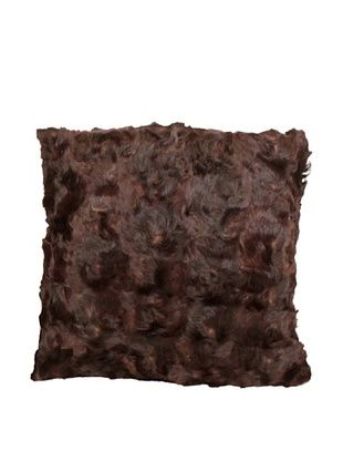 63% OFF Upcycled Cowhide Pillow, Brown/Black, 18