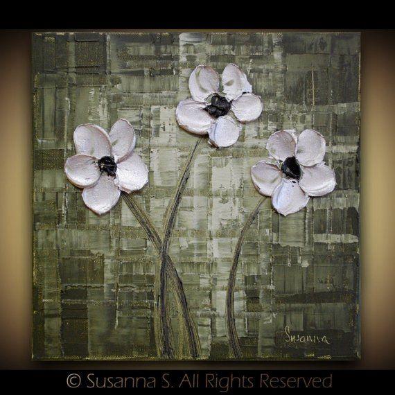 ORIGINAL MINIATURE SFA OSWA Contemporary Textured MINI Modern Palette Knife Oil Painting by Susanna via Etsy